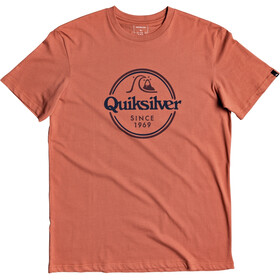 Quiksilver Words Remain SS Tee Men redwood